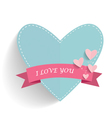 Happy Mothers Day with heart and ribbon vector image