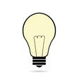 Lightbulb cartoon on white vector image