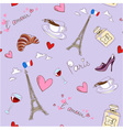 Paris seamless pattern vector image