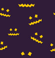 seamless pattern of terrible scary halloween face vector image