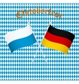 The flags of Germany and Bayern Munich vector image