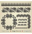 hand draw black flower design element vector image vector image