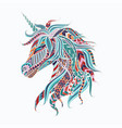 colorful unicorn vector image