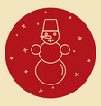 snowman icon in thin line style vector image
