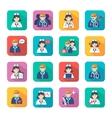 Medicine Doctors and Nurses Icons Set vector image