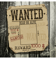 Wanted advertisement vector image