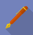 Fountain pen icon Modern Flat style with a long vector image