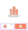 Real estate flat logo vector image