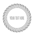 hand drawn round frame tribal boho vector image