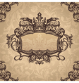 Retro royal vintage frame vector image