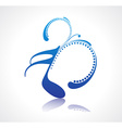 music note design vector image