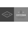 Set of Coffee Logotype Templates and Coffee vector image