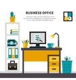 Business Workspace In Office Interior vector image vector image