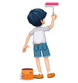 Boy painting the wall vector image