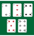 winning poker hand vector image