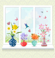 romantic collection of modern glass vases with vector image vector image