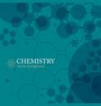 abstract molecule template vector image