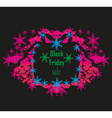 Black Friday on gift box - card vector image