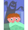nightmare in bedroom vector image