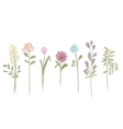 Set of flowers sketch for your design vector image