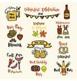Set of Octoberfest beer vector image