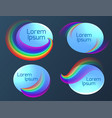 set of oval banners with a rainbow vector image