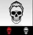 Skulls With Hair vector image