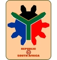 south african republic flag vector image