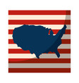 usa country map icon vector image