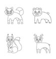 zoo nature reserve and other web icon in outline vector image