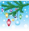 Christmas tree ornament vector image