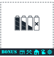 Battery icon flat vector image