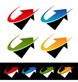 Swoosh Arrow Logo Icons vector image