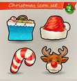 funny christmas icons-2 vector image