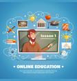 online education design concept vector image