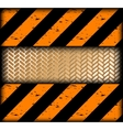 Warning strips with gold texture vector image vector image