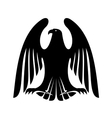 Black eagle silhouette with raised wings vector image vector image