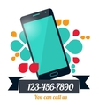 Page or banner design with mobile phone vector image vector image
