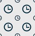 Clock sign icon Mechanical clock symbol Seamless vector image