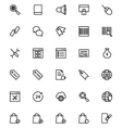Online marketing Line Icons 4 vector image