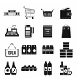 Supermarket icons set simple style vector image