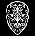Maori face tattoo vector image vector image