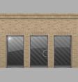 brick facade in loft style vector image