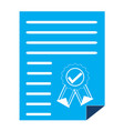 certificate certified icon vector image