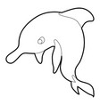 dolphin icon outline vector image