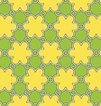 flowers pattern yellow and green ornament vector image