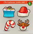 funny christmas icons-2 vector image