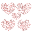 Isolated hand lettering hearts for Valentines day vector image