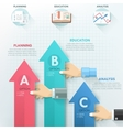 Modern infographic option template vector image