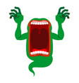 mysterious phantom angry hungry spirit scary vector image